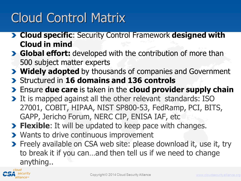 www.cloudsecurityalliance.org Copyright © 2011 Cloud Security Alliance www.cloudsecurityalliance.org Cloud Control Matrix Cloud specific: Security Con