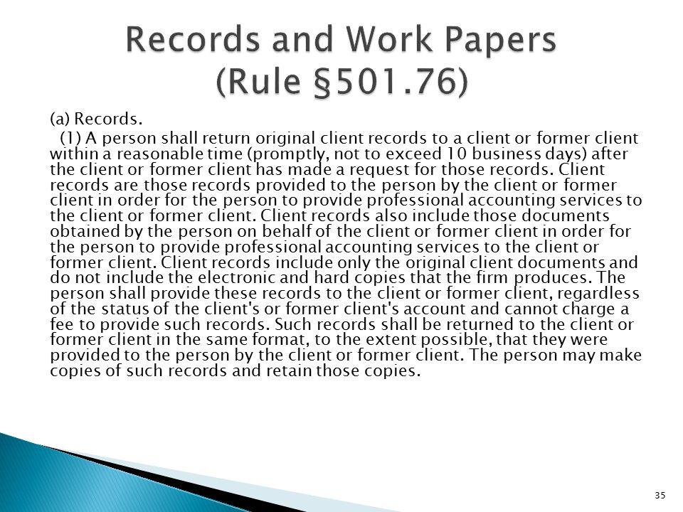 (a) Records.