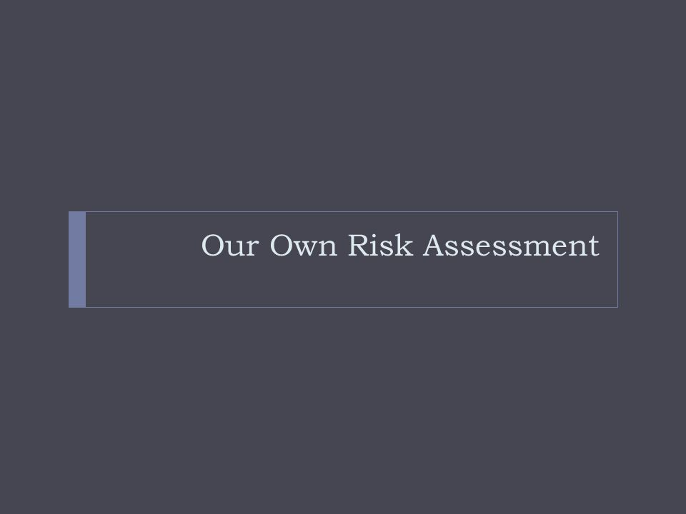 Our Own Risk Assessment
