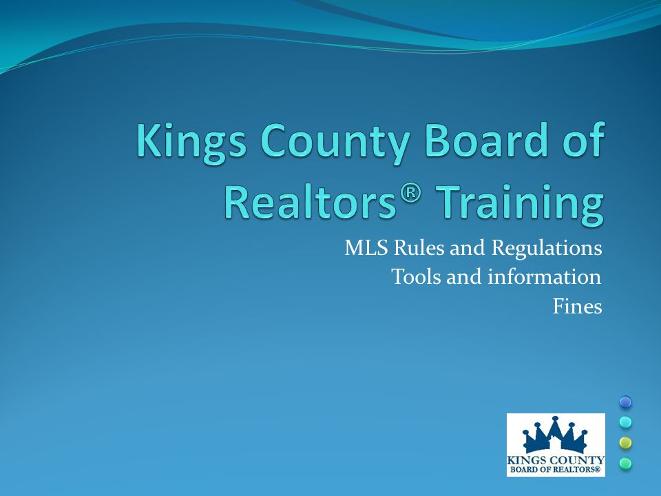 MLS Rules and Regulations Tools and information Fines