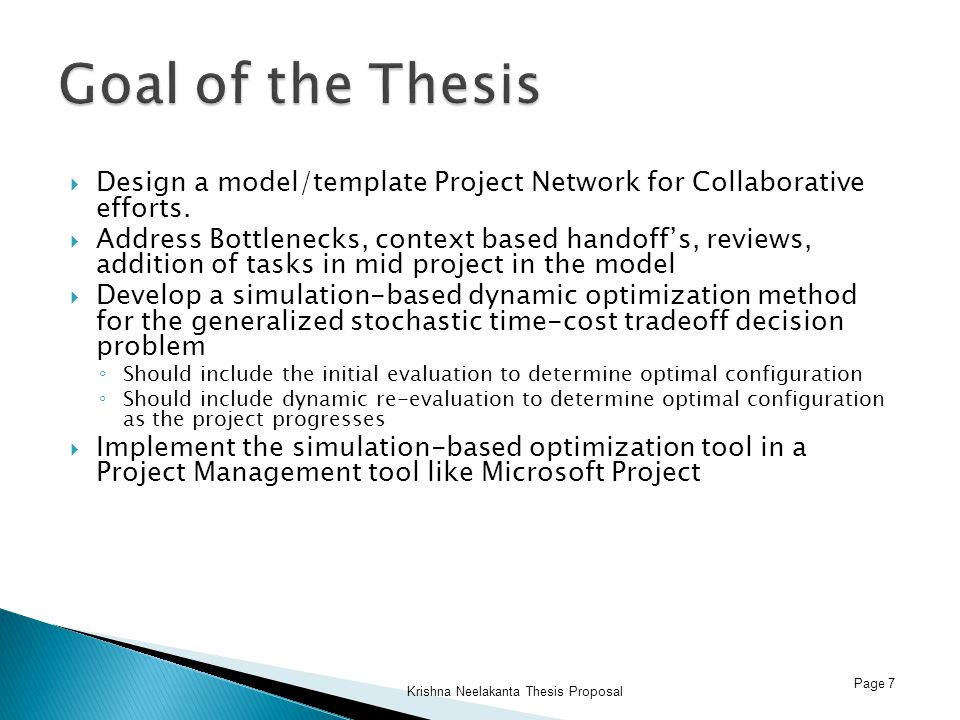  Design a model/template Project Network for Collaborative efforts.