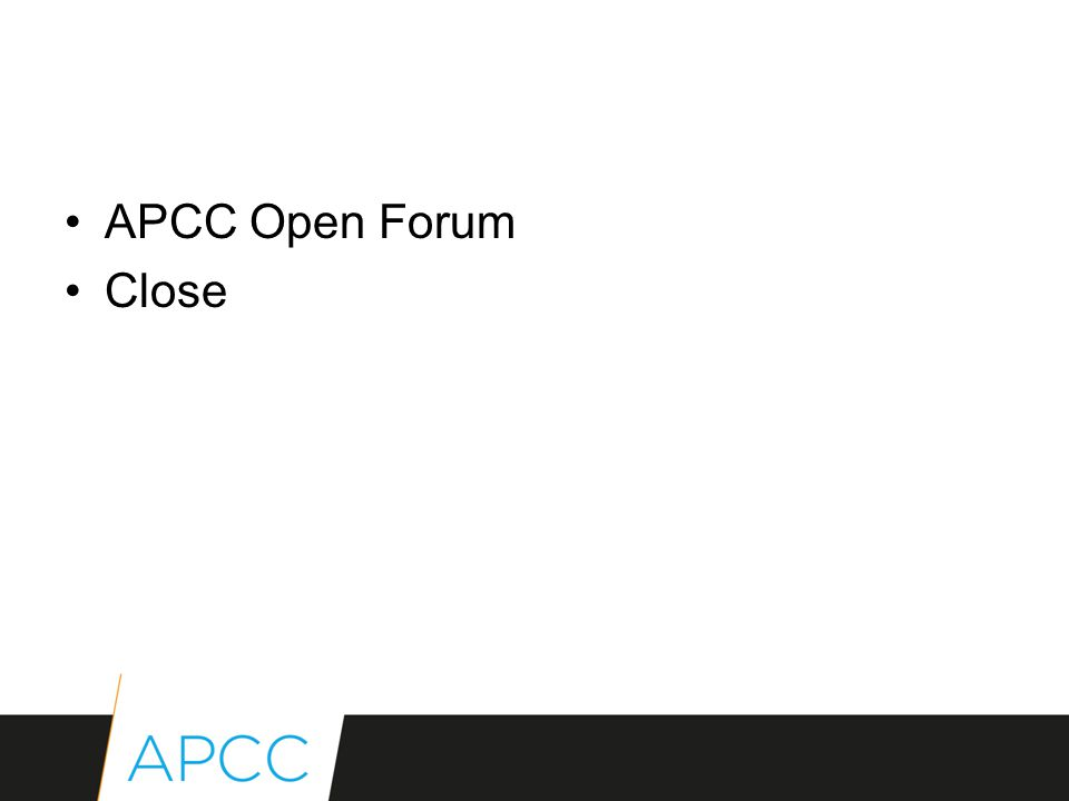 APCC Open Forum Close