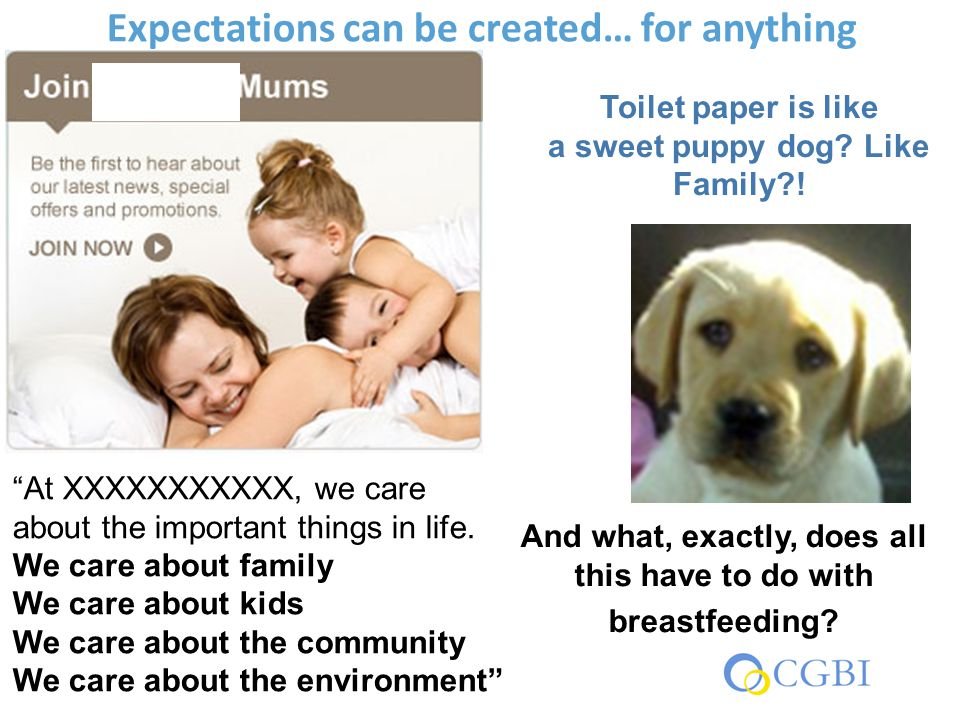 "Expectations can be created… for anything Toilet paper is like a sweet puppy dog? Like Family?! ""At XXXXXXXXXXX, we care about the important things in"