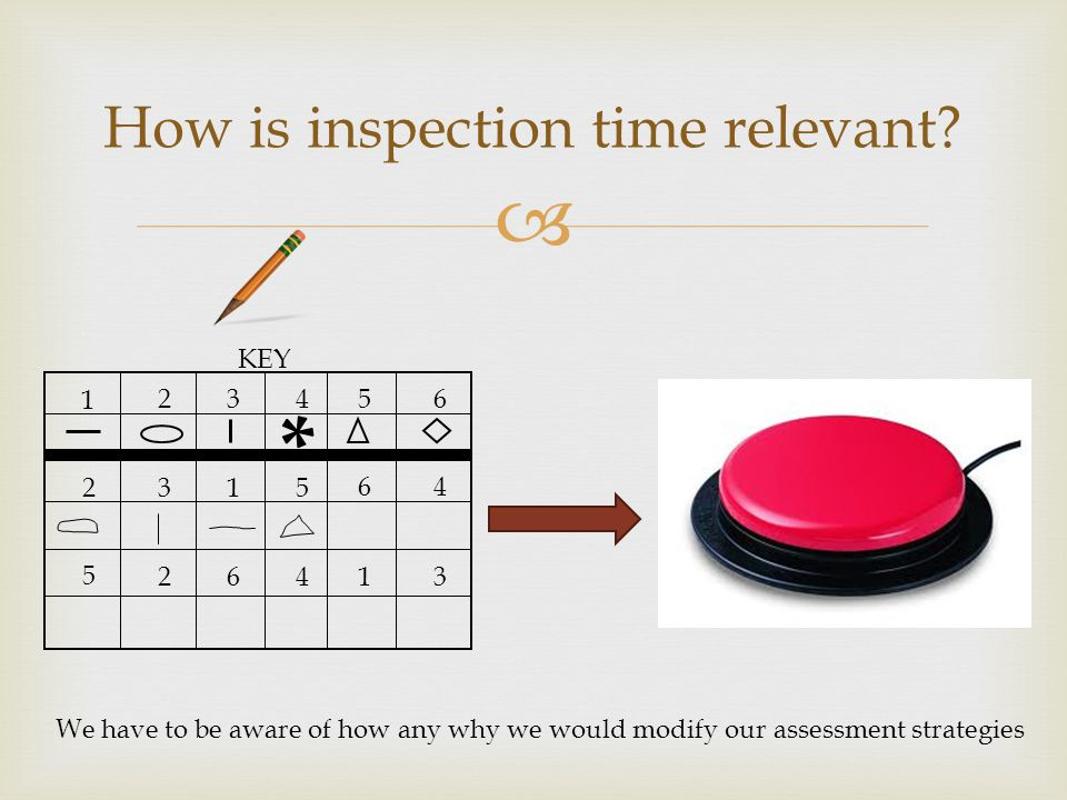  How is inspection time relevant.