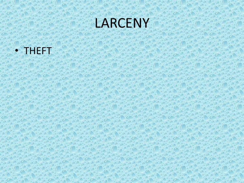 LARCENY THEFT
