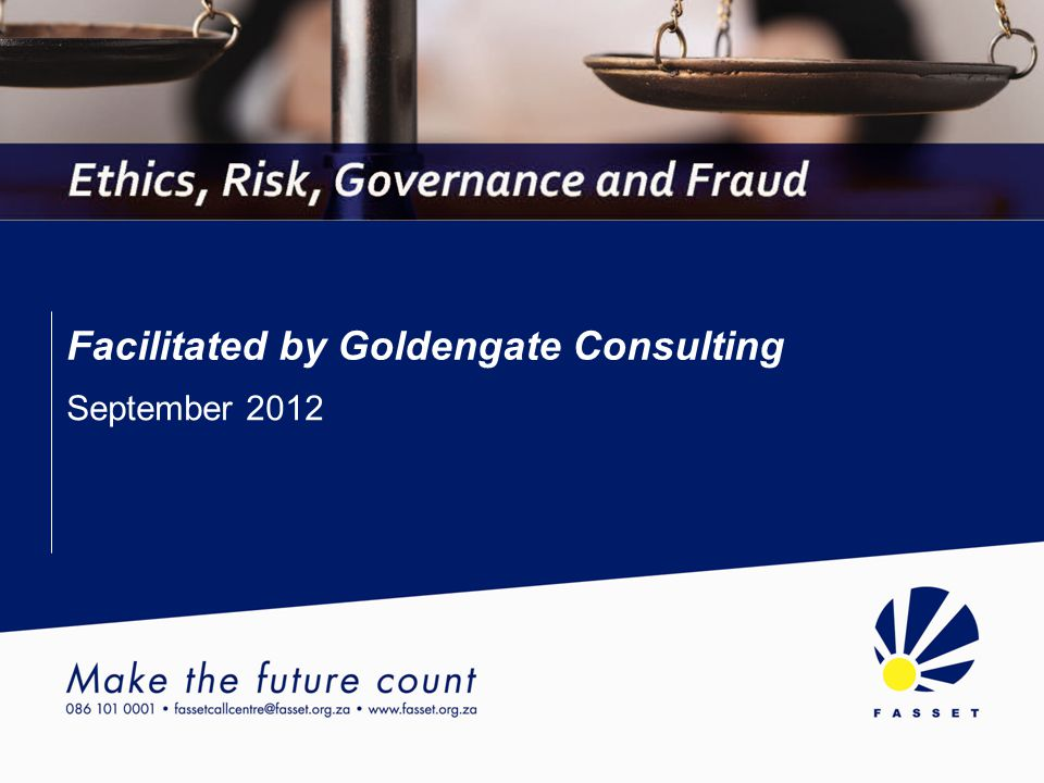 Introduction Governance, Ethics, Risk and Fraud
