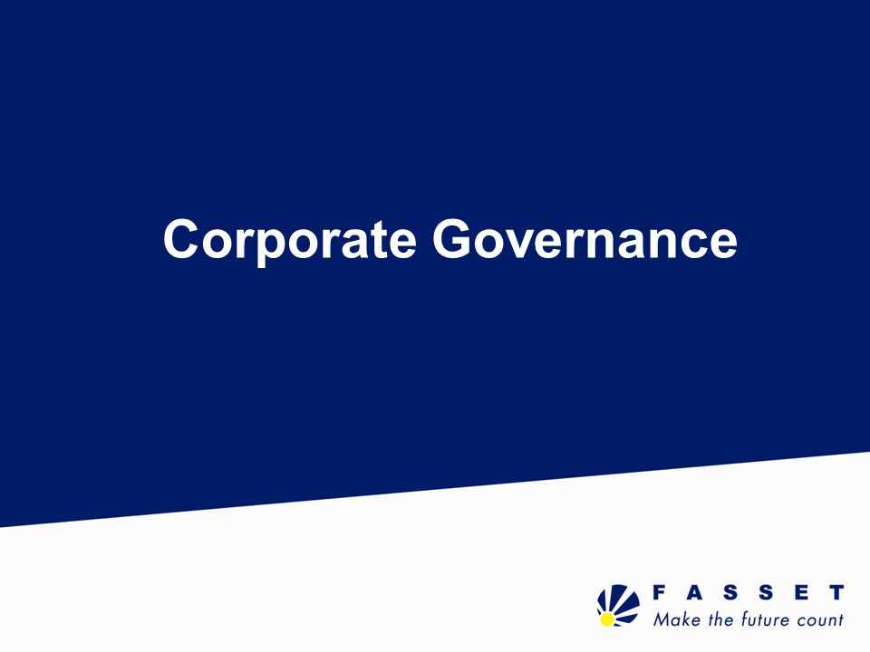 Definition What is Corporate Governance.