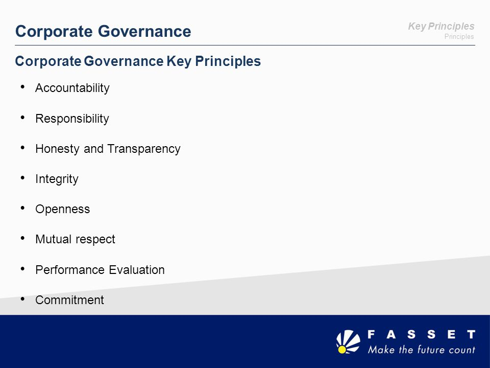 Ethics Ethics & Corporate Governance What alternatives are available for my consideration.