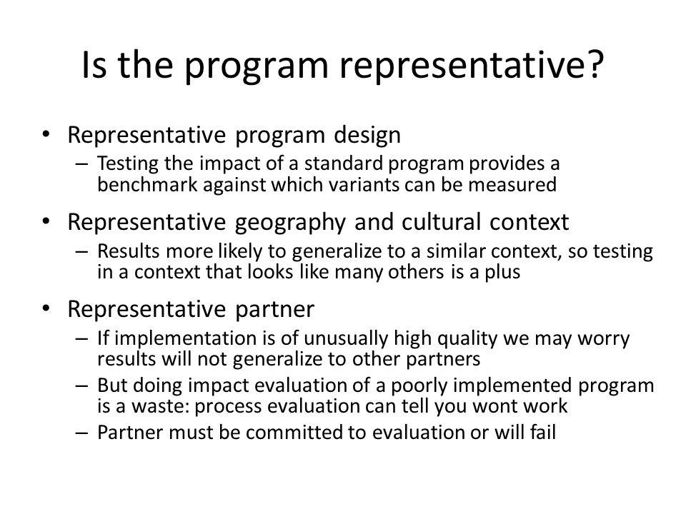 Is the program representative.