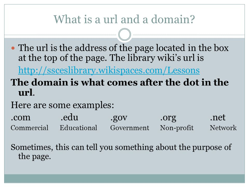 What is a url and a domain.