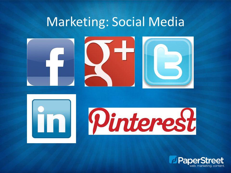 Marketing: Social Media