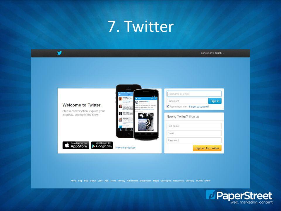 7. Twitter