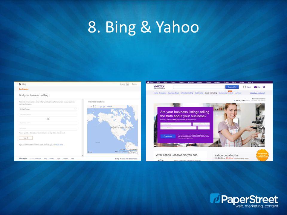 8. Bing & Yahoo