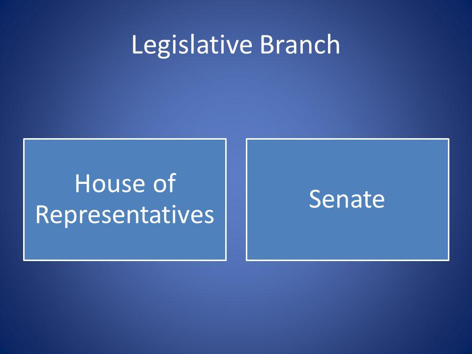 House of Representatives Senate
