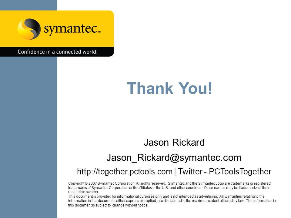 LRC XIV Localisation in The Cloud Copyright © 2007 Symantec Corporation.