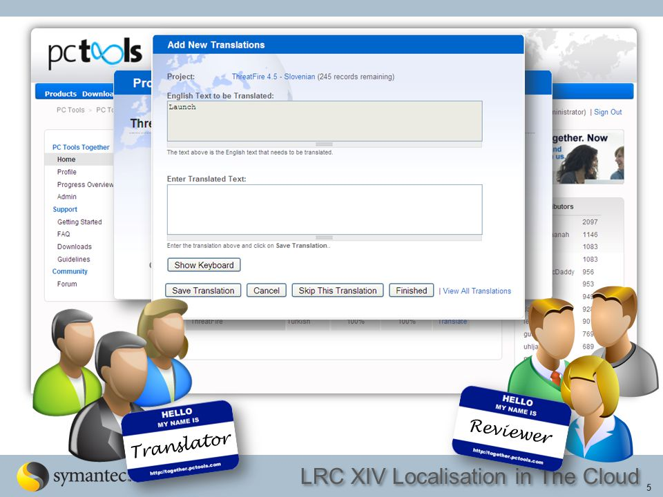 LRC XIV Localisation in The Cloud 6 Reviewer Translator