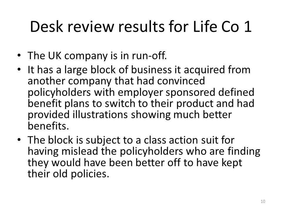 The UK company is in run-off.