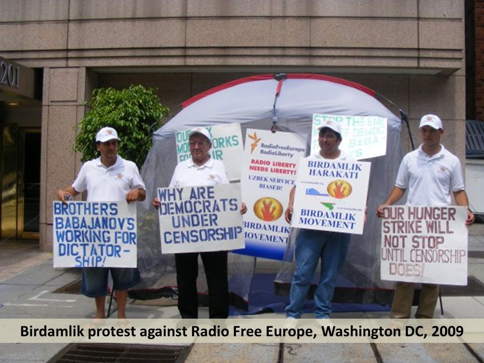 Birdamlik protest against Radio Free Europe, Washington DC, 2009