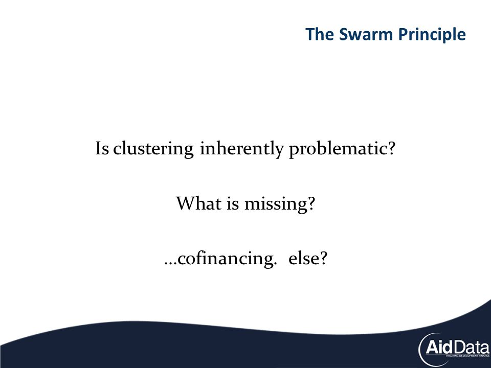 Is clustering inherently problematic What is missing ...cofinancing. else The Swarm Principle