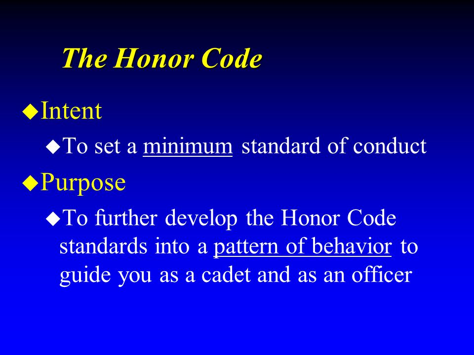 Honor Code Elements LYING A statement of untruth meant to mislead or deceive n Evasive Statement n Not disclosing information