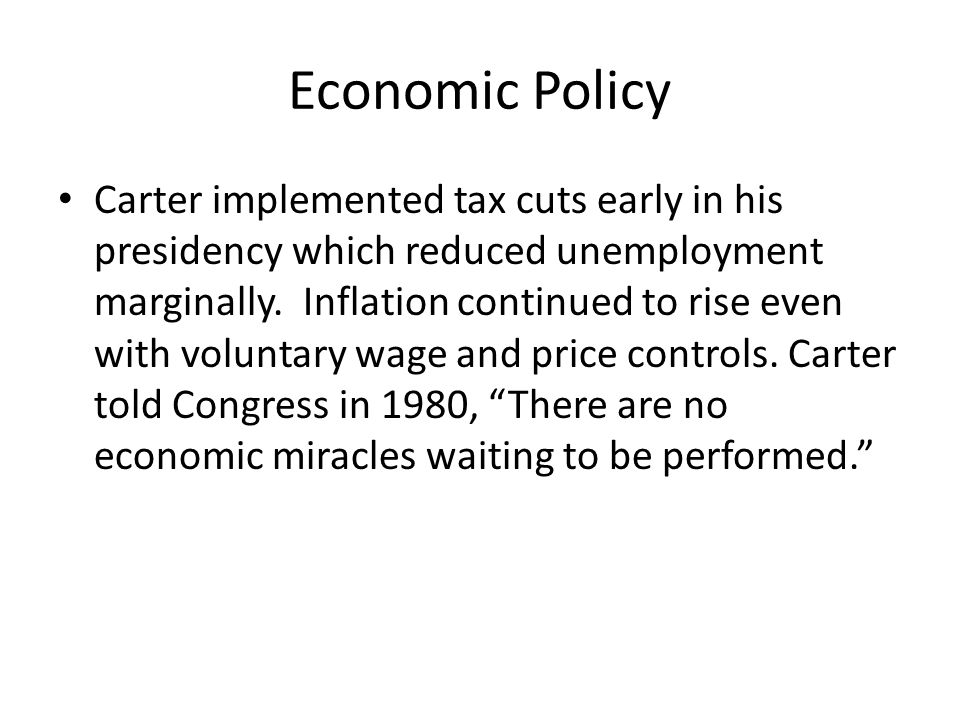 Facing the Energy Crisis April, 1977: Carter had to deal with the rising cost of oil.