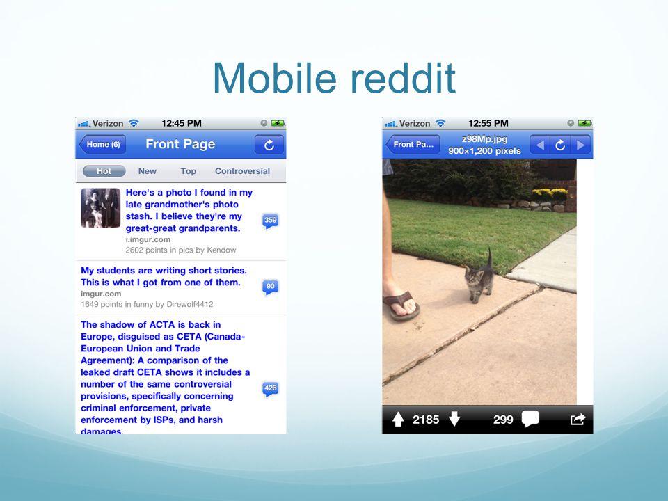 Mobile reddit