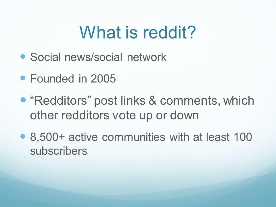 What is reddit.