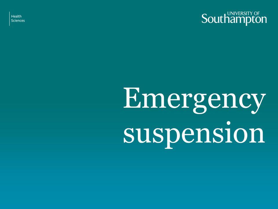 Emergency suspension