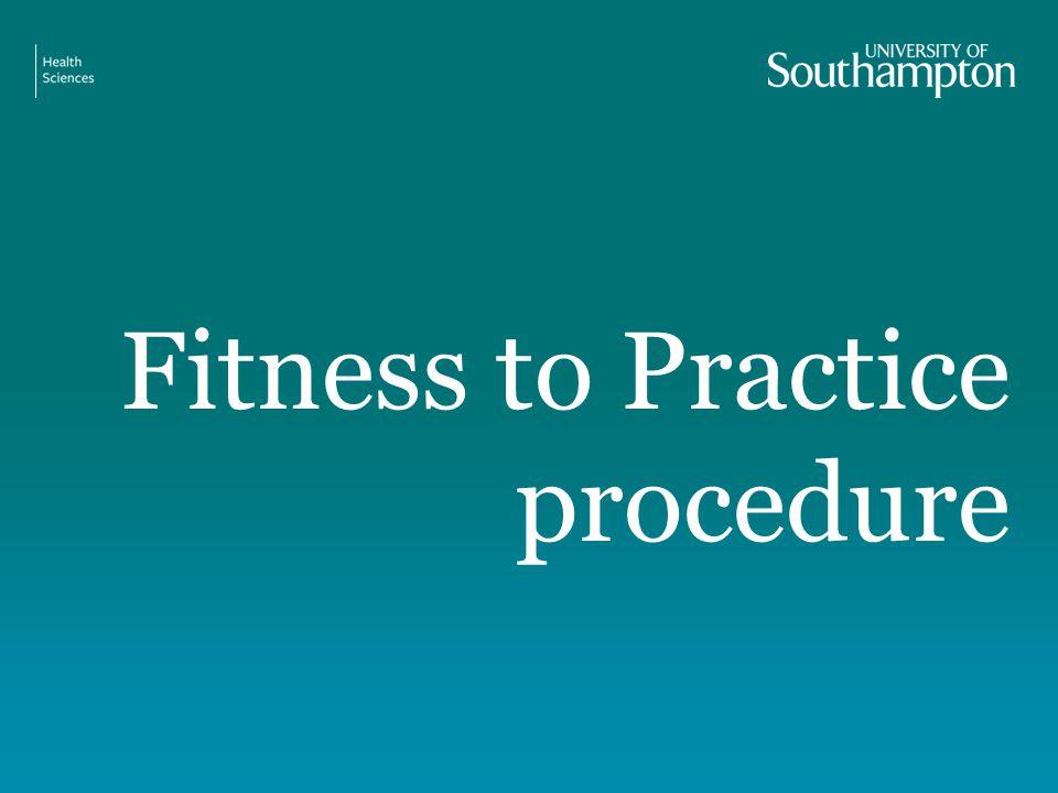 Fitness to Practice procedure