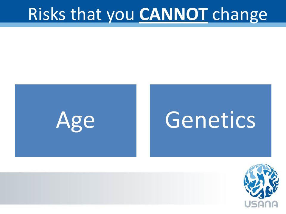 Risks that you CANNOT change AgeGenetics