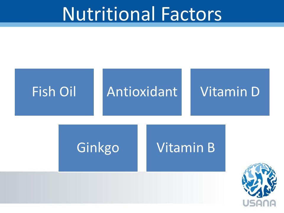 Nutritional Factors Fish OilAntioxidantVitamin D GinkgoVitamin B