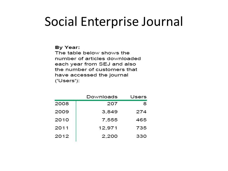 Social Enterprise Journal