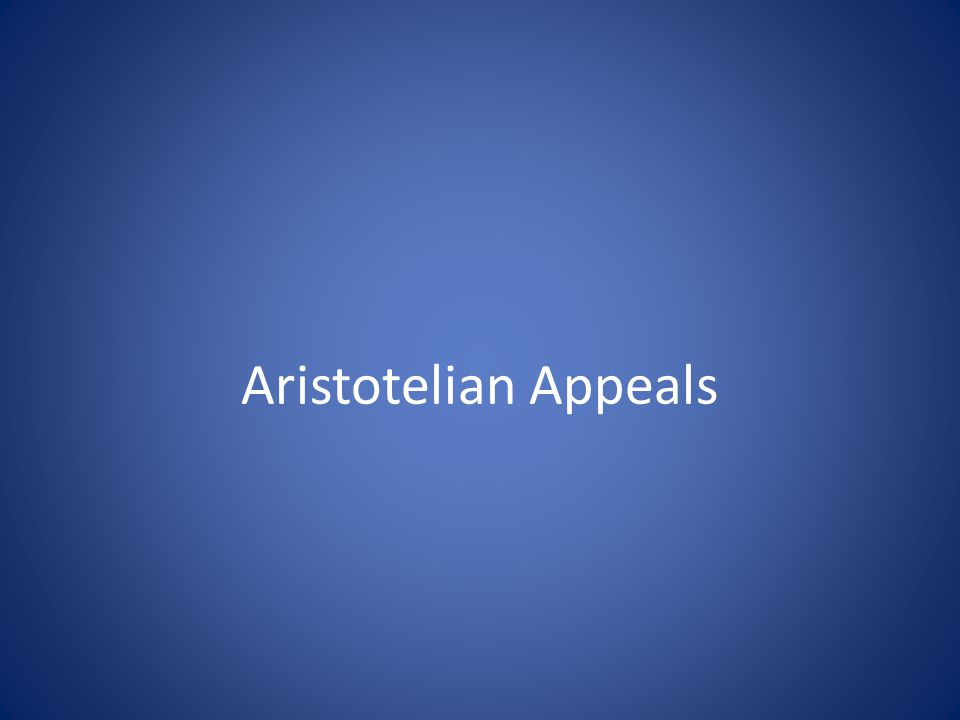 Aristotelian Appeals