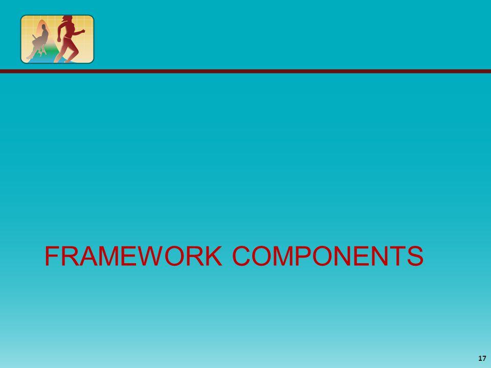 FRAMEWORK COMPONENTS 17