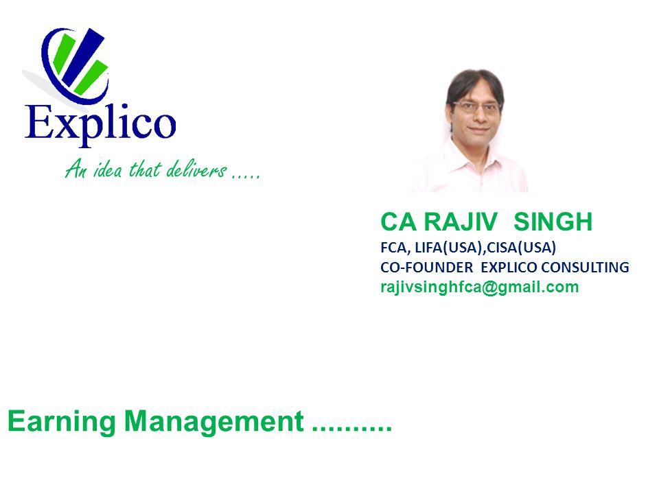 Earning Management..........