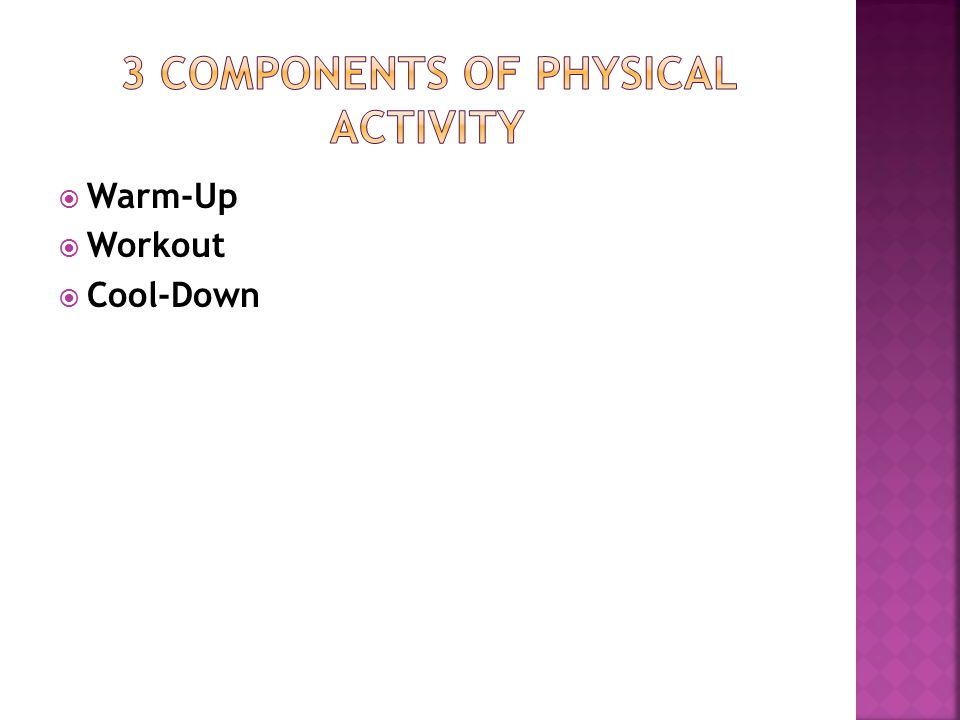 Warm-Up  Workout  Cool-Down