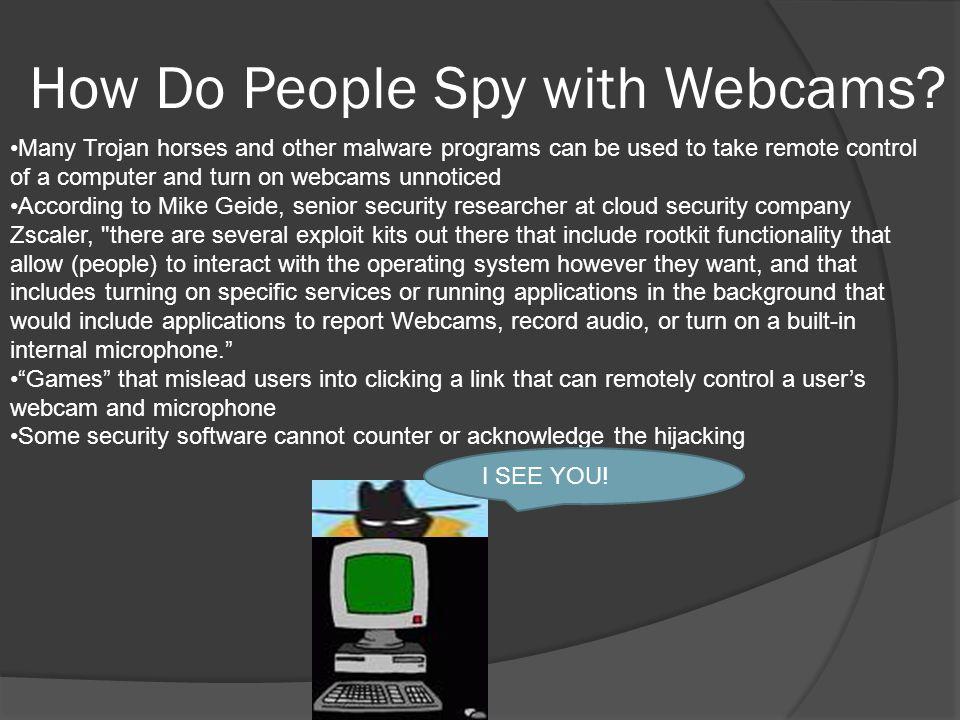 Who Uses Webcams?