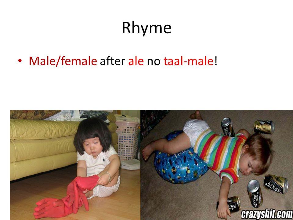Rhyme All exchange Haar at the altar!