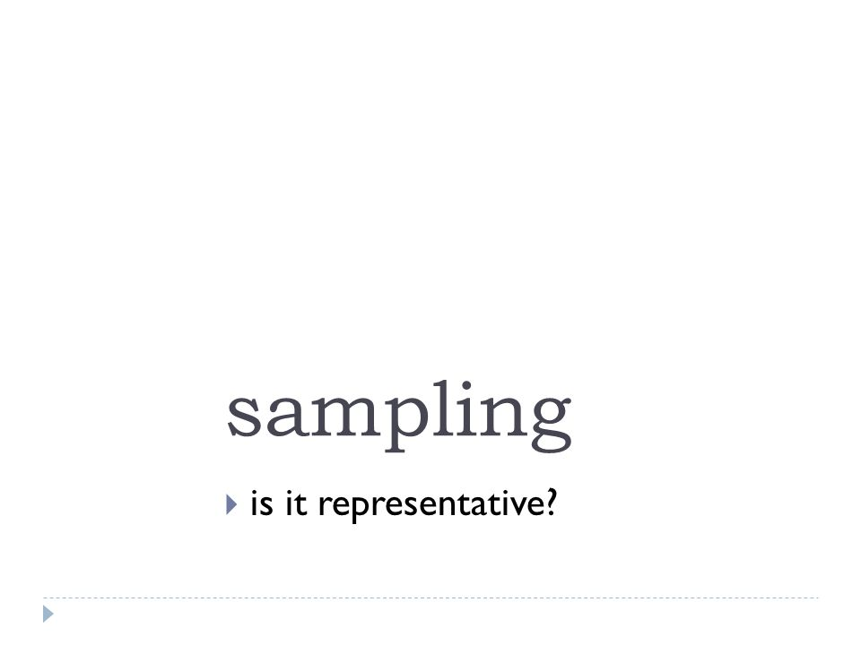 sampling  is it representative