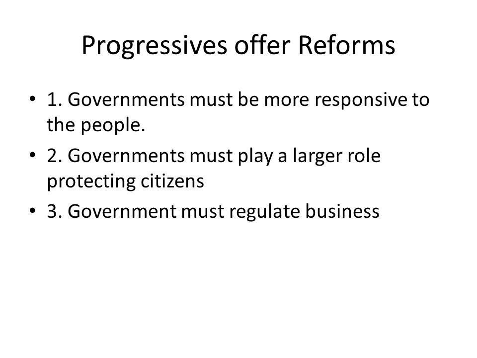 Progressivism When???.Who—many qualify---no true political party distinction.