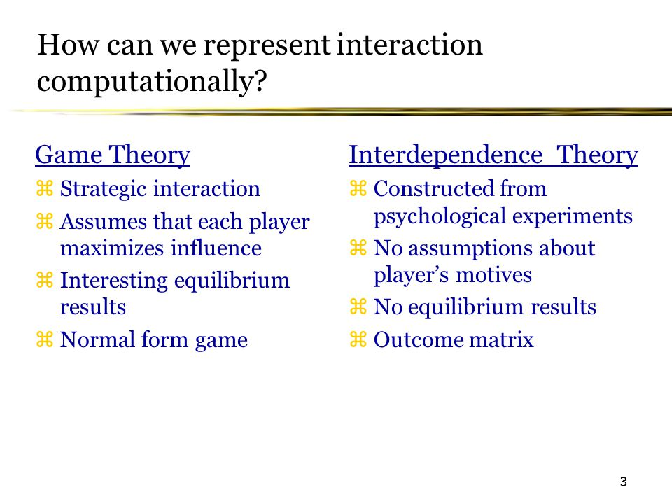 3 How can we represent interaction computationally.
