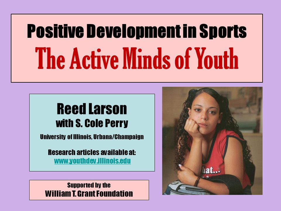 I.New Thinking Capacities II. Sports and Youth Programs as Contexts of Development III.