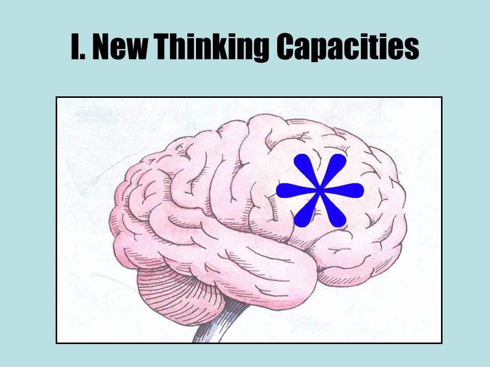 I. New Thinking Capacities