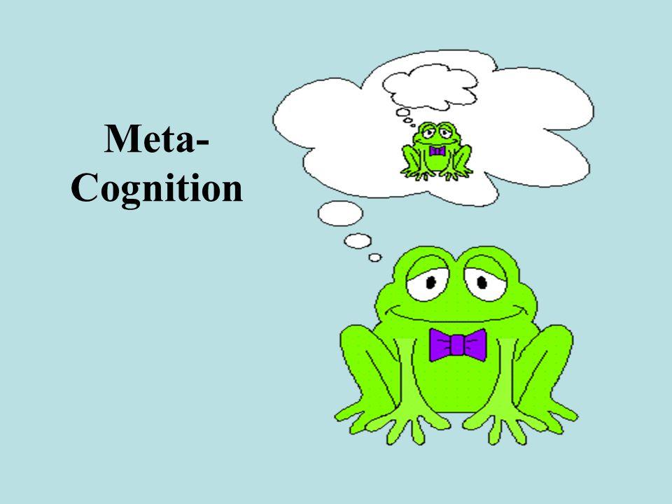 Meta- Cognition