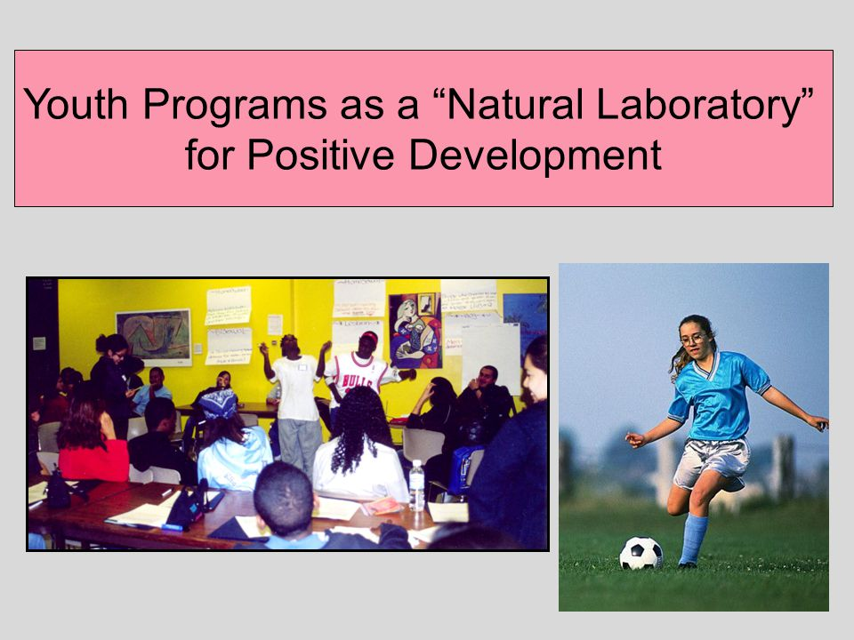 Youth Programs as a Natural Laboratory for Positive Development