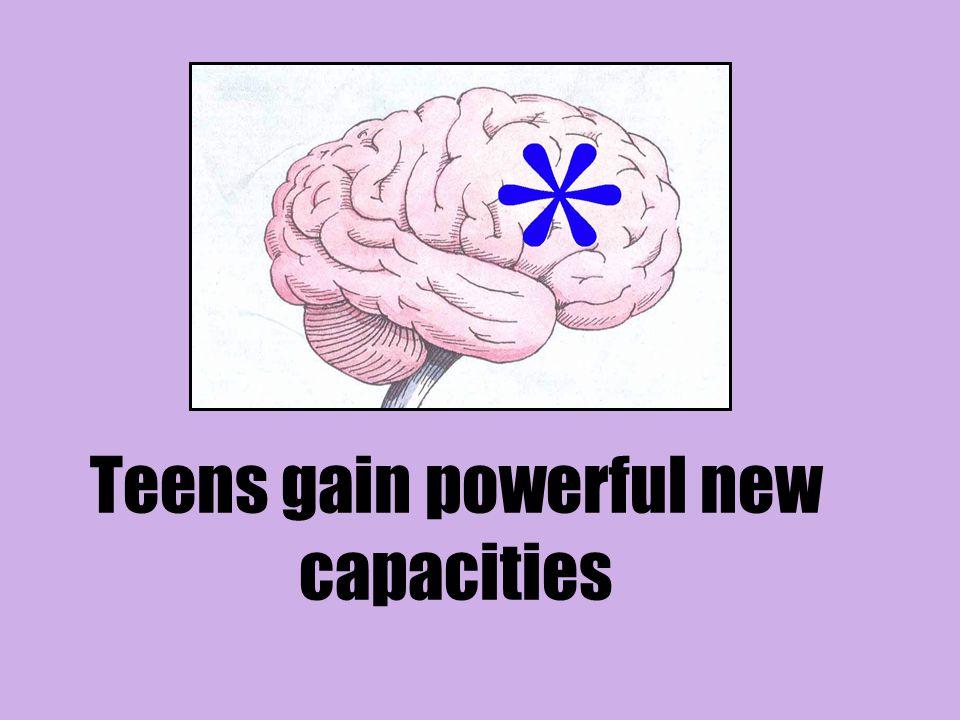Teens gain powerful new capacities