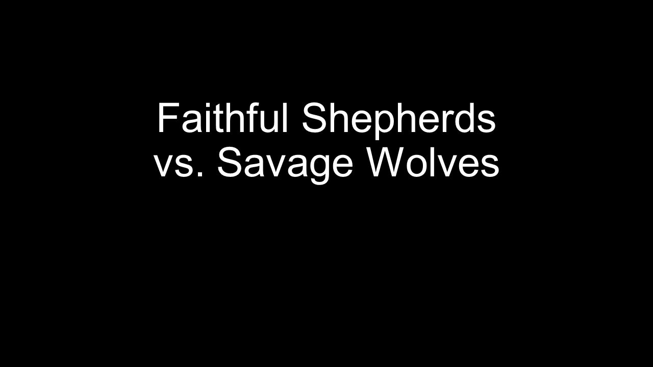 Faithful Shepherds vs. Savage Wolves