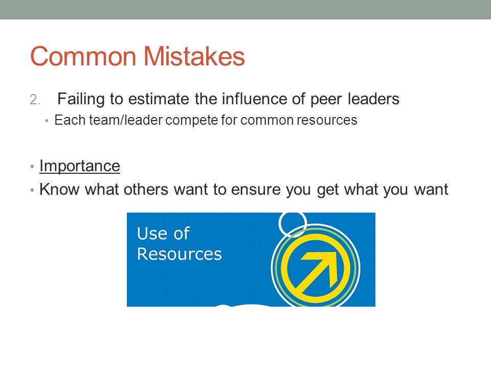 Common Mistakes 3.