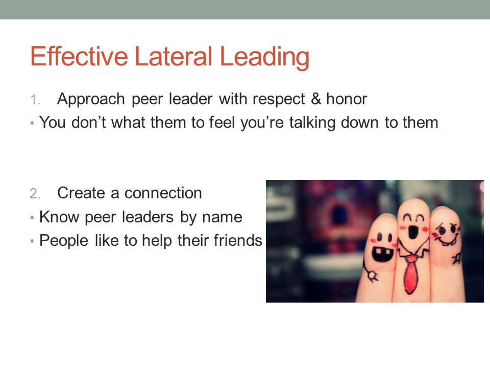 Effective Lateral Leading 3.