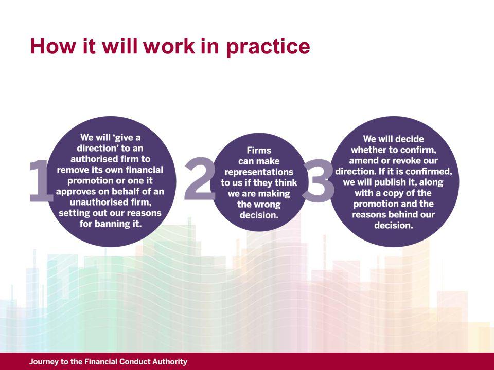 How it will work in practice